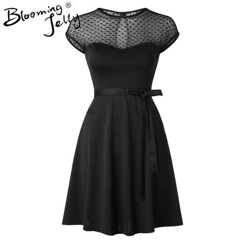 pattern little black dress heart pattern gauze mesh summer dress patchwork swing
