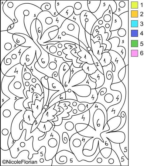 Free Printable Paint By Numbers For Adults Coloring Home Color By Number Pages Printable