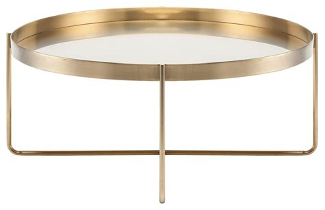 gold metal coffee table gaultier 40 quot gold metal coffee table hgde122 nuevo