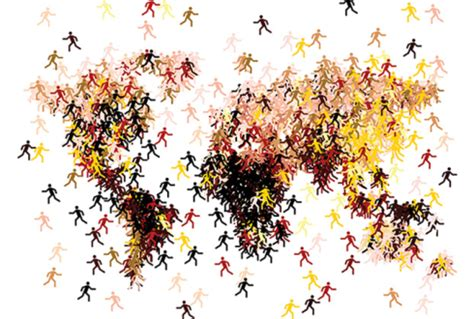 exploring relations between human migration and land cover