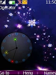 flower clock themes software download flowers clock nokia theme mobile toones