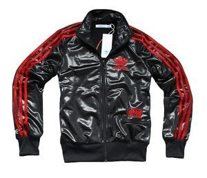 adidas originals womens chile  blackred  leo tt track top jacket ebay