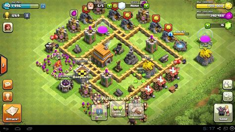 best layout in coc th5 best town hall level 5 th5 base defense design layout