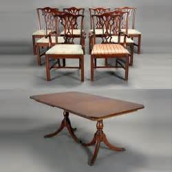 Duncan Phyfe Dining Table And Chairs 681 Duncan Phyfe Style Dining Table And Eight Chairs Lot 681