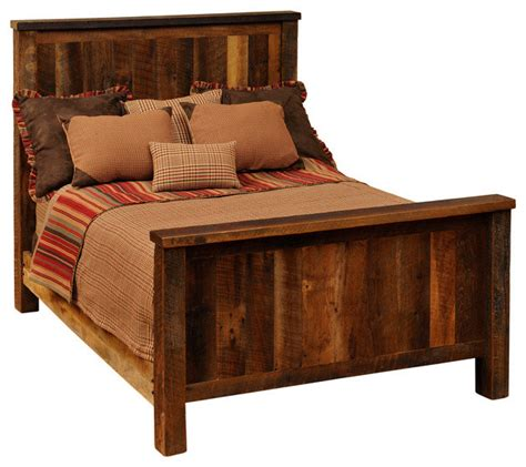 rustic king size headboards fireside lodge traditional reclaimed barnwood bed