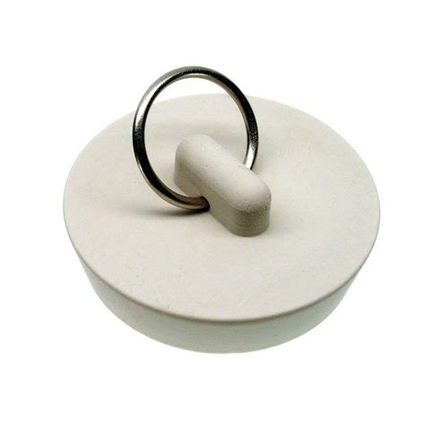 rubber bathtub drain stopper danco 1 5 8 in rubber drain stopper in white 80228 the