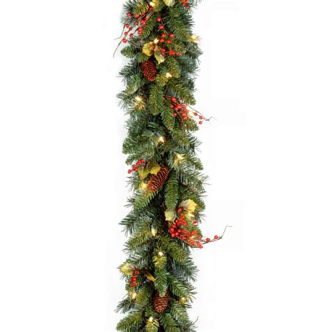 ge 36 ft classics artificial garland with 100