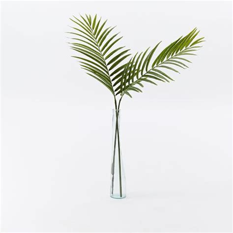 Artificial Tree For Home Decor faux palm leaf branch west elm
