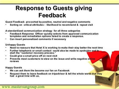 Hotel Guest Feedback Programme An Approach Note Hotel Pre Stay Email Template