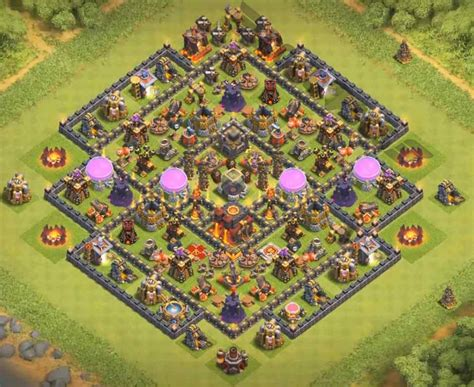 coc village layout th10 photo clash of clans town hall 10 impremedia net