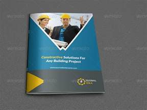 construction brochure template construction business brochure template 8 pages by