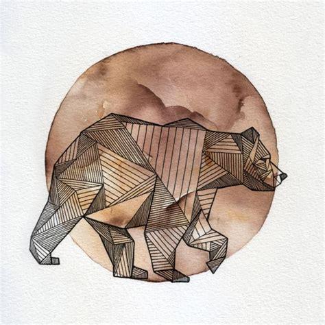 tattoo geometric bear geometric line bear geometric line dotwork tattoos