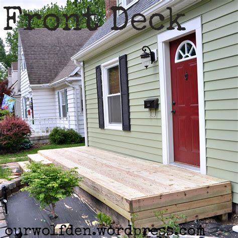 Cape Cod Front Porch Ideas by Building A Front Deck Our Wolf Den