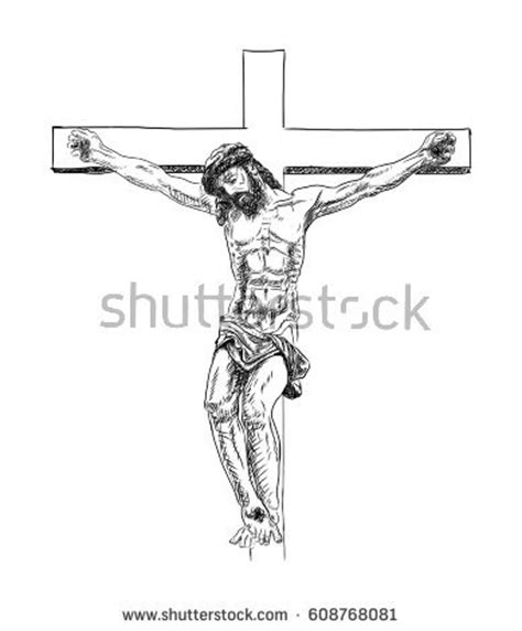 Crucifix Vector Stock Images Royalty Free Images Drawing Of Jesus On The Cross 2