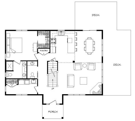 small home floor plans open open concept loft house plans