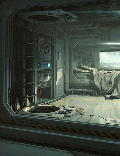 Spaceship Bedroom | sci fi bedroom 3d models and 3d software by daz 3d