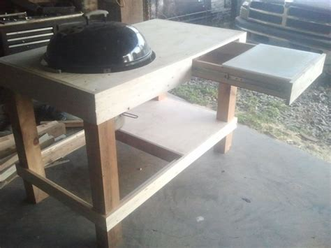 Diy Grill Table by Build A Kettle Grill Table Weber Grill Station By