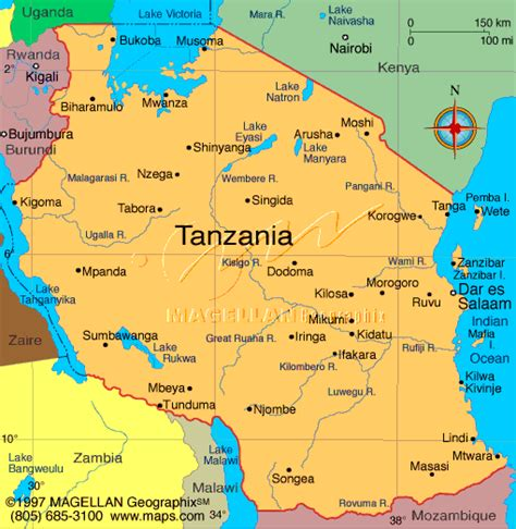 map of tanzania tanzania holidays and accommodation kilimanjaro ngorongoro serengeti zanzibar selous