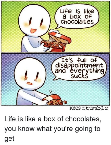 life   box  chocolates  full  disappointment