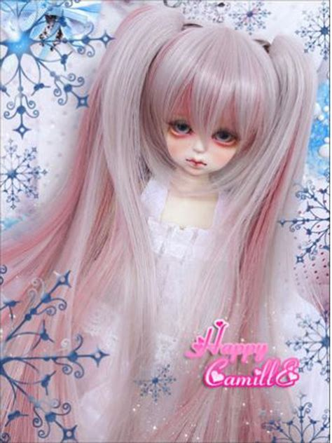 jointed doll wigs bjd wig pink wig for sd msd size jointed doll wig