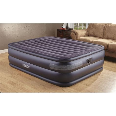 intex air bed mattress with built in electric 115699 air beds at sportsman s guide