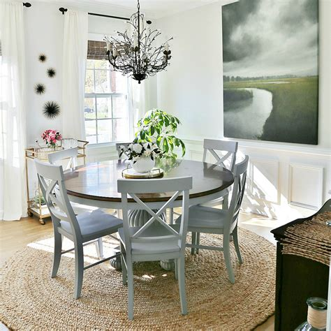 Coastal Dining Room Makeover Sand And Sisal | coastal dining room makeover sand and sisal