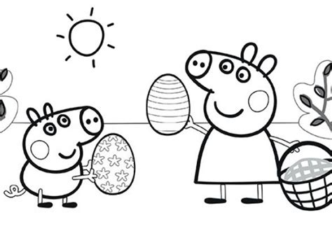 peppa pig easter coloring pages 1000 id 233 es sur le th 232 me peppa pig colouring sur pinterest