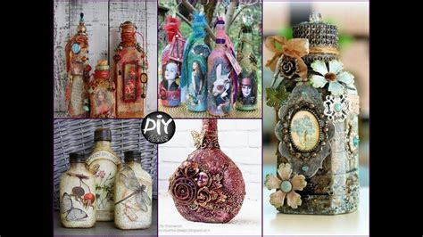 creative diy home decor crafts with glass and black lace diy glass bottles decor ideas creative crafts to sell