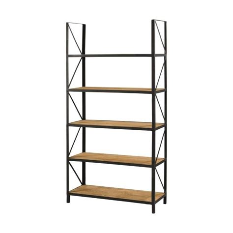 etagere metal etag 232 re style contemporain en bois pin massif cir 233 bross 233