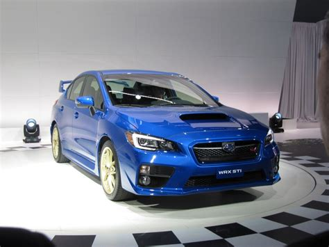 subaru car 2015 2015 subaru wrx sti first look 2014 detroit auto show video