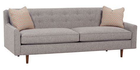 Modern Style Sofas Mid Century Fabric Sofa With Inset Legs Club Furniture