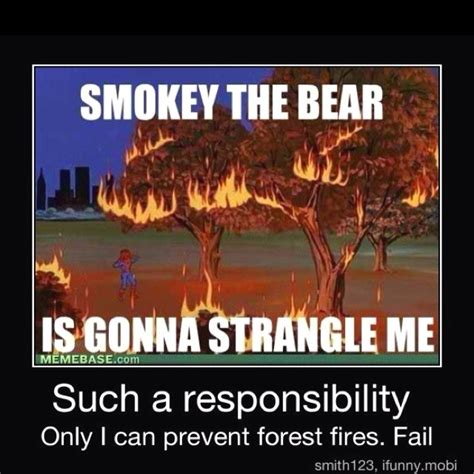 Only You Can Prevent Forest Fires Meme - smokey the bear only you can prevent forest fires www
