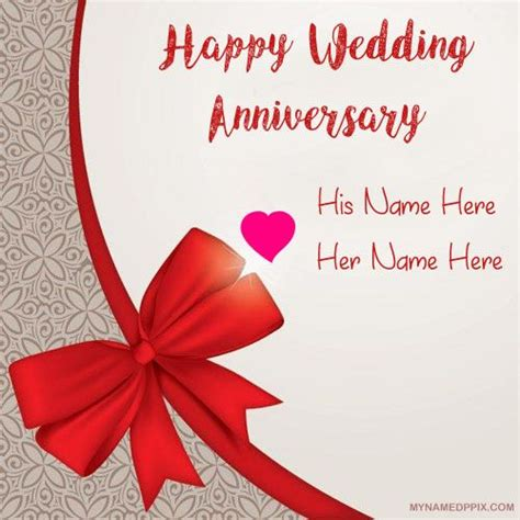 Happy Wedding Anniversary Card Editing by Write Name Anniversary Card Image Beautiful Lover