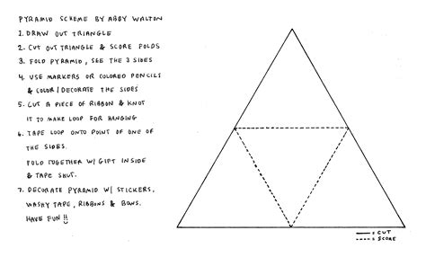 How To Make A Three Sided Pyramid Out Of Paper - how tuesday make a pyramid gift box etsy