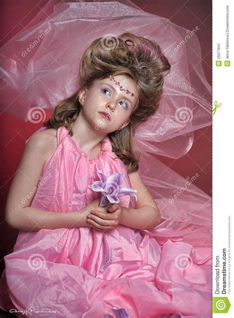 schoolgirl princess backgrounds beautiful little girl in princess dress stock image