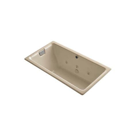 kohler tea for two kohler tea for two 5 5 ft whirlpool tub in mexican sand k 856 h2 33 the home depot