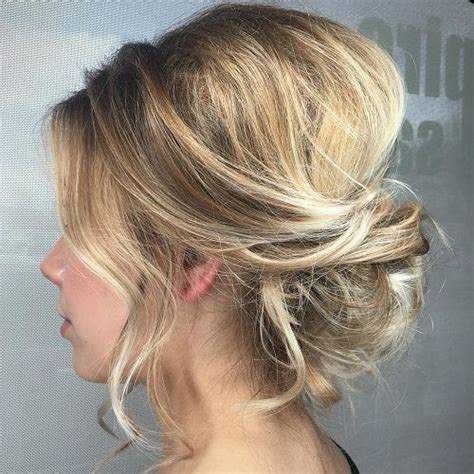 Upstyles For Mid To Long Hair | 25 best ideas about loose updo on pinterest messy updo