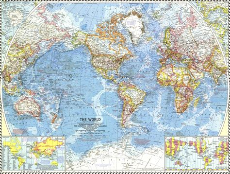 map geo national geographic world map 1960 maps