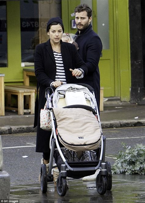 Shades Of Red Hair by Jamie Dornan And Pregnant Amelia Warner Go Shopping With