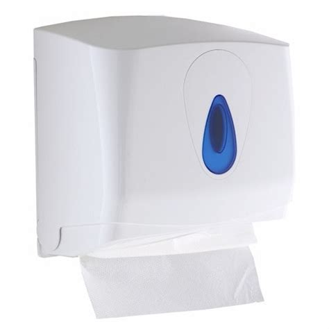 Folded Paper Towel Dispenser - modular small plastic c fold or multifold paper towel