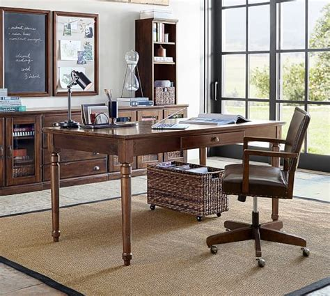 printer s writing desk small printer s writing desk large tuscan chestnut pottery barn