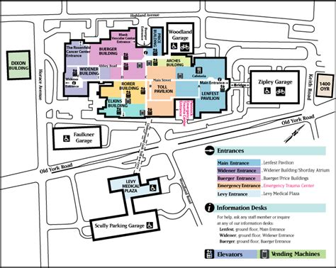 Jefferson Floor Plan by Abington Hospital Location And Parking Guide Map
