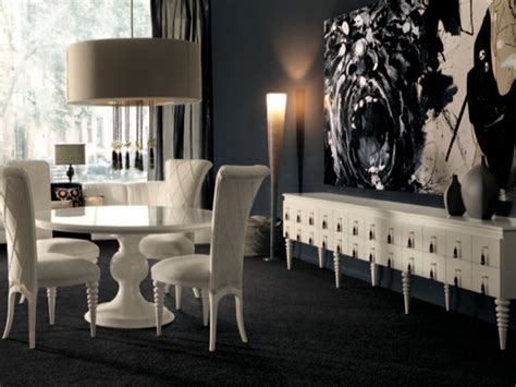 dark dining room white round dining table in a dark dining room