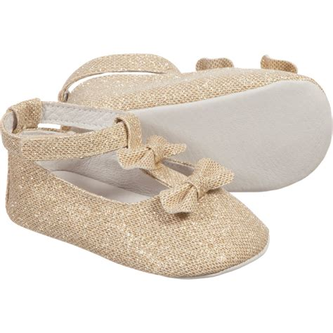 gold shoes for baby carr 233 ment beau baby gold glitter ballerina shoes