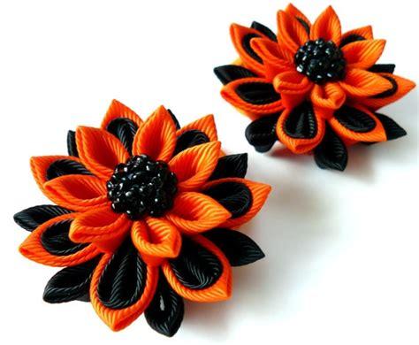 Pita Yellow Headband T2909 kanzashi fabric flowers set of 2 ponytails by julva 10 00 kanzashi