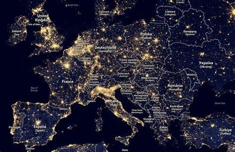Light Pollution Map Of Europe Maps Pinterest Light Map