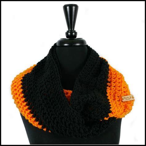Infinity Black Orange orange black infinity scarf bundle up crochet