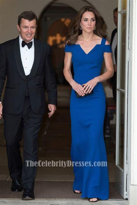 Duchess of Cambridge Royal Blue Formal Dress SportsAid's