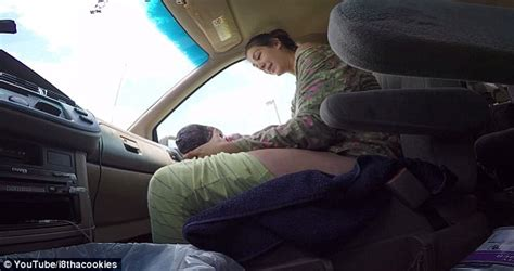 baby screams in car seat gives birth to 10lb baby in car while husband drives