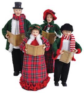 red plaid carolers 18 quot traditional holiday accents